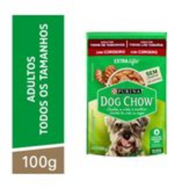 Oferta de Alimento para Cães Adultos Cordeiro Extra Life Dog Chow Purina Sachê 100g por R$29,59