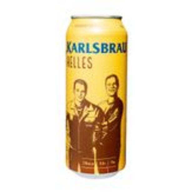 Oferta de Cerveja Karlsbrau Helles Garrafa 500ml por R$11,99