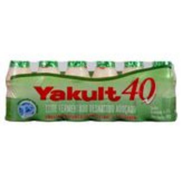 Oferta de Leite Fermentado Desnatado Yakult 40 Pack com 6 Unidades 80g Cada por R$9,19