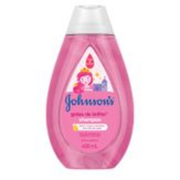 Oferta de Shampoo Infantil Gotas de Brilho Johnson's Frasco Pack com 2 Unidades 400ml Cada por R$31,98