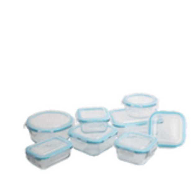 Oferta de Conjunto 8 Potes De Vidro Neoflam por R$179,8
