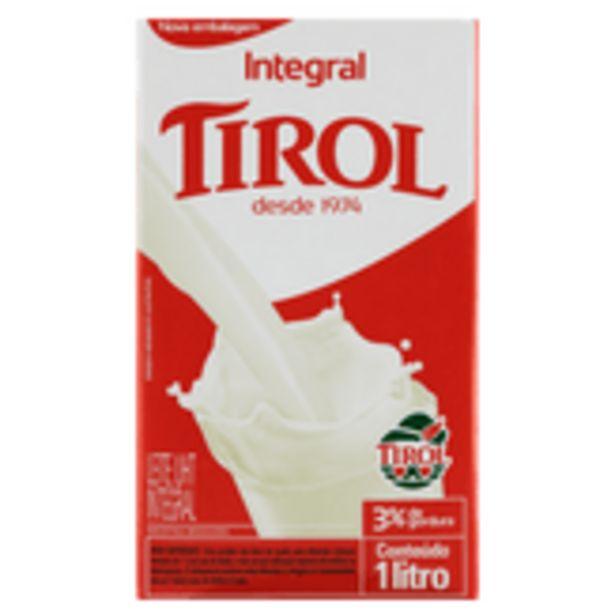 Oferta de Leite UHT Integral Tirol Pack 12 Unidades 1l Cada por R$42,5
