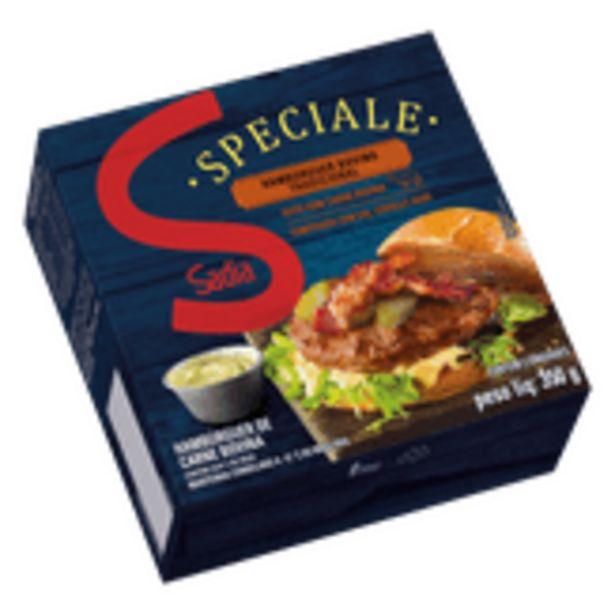 Oferta de Hambúrguer de Carne Bovina Tradicional Sadia Speciale Caixa 350g 2 Unidades por R$27,9