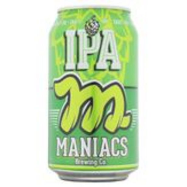 Oferta de Cerveja IPA Puro Malte Maniacs Lata 350ml por R$5,99