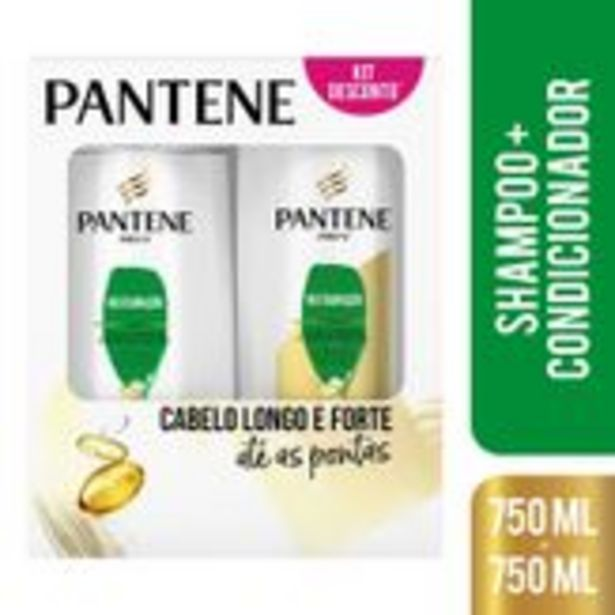 Oferta de Shampoo + Condicionador Pantene Reparação Pack com 2 Unidades 750ml Cada por R$49,87