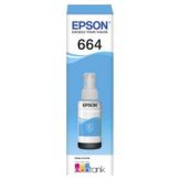 Oferta de Garrafa para Ecotank T664220AL 664 Ciano Epson por R$39