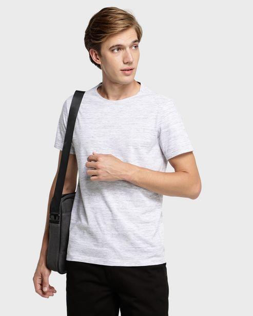 Oferta de Camiseta Slim Mescla - Cinza Mescla por R$19,9