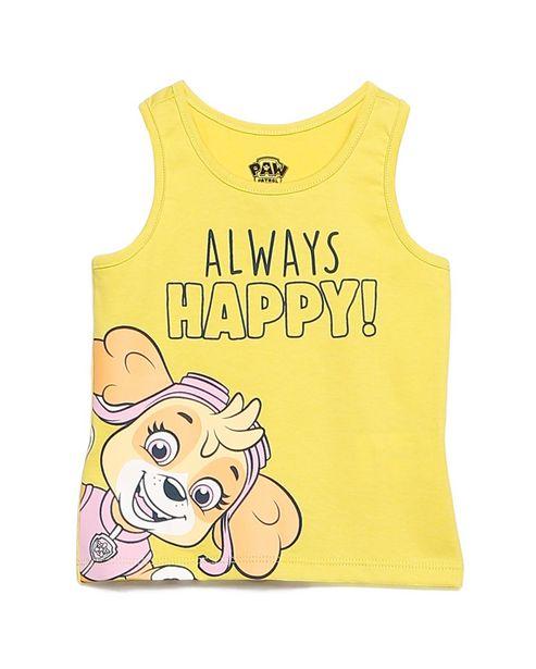 Oferta de Regata Infantil Always Happy Skye Patrulha Canina Amarelo Tam 1 a 6 por R$15,9