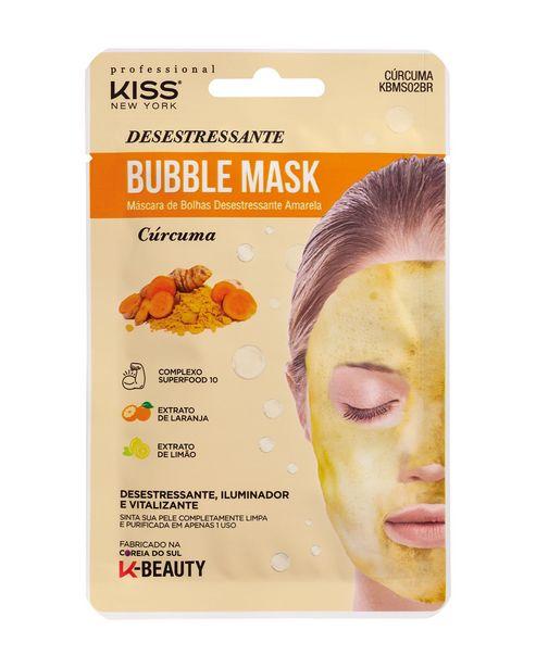 Oferta de Máscara Facial de Bolhas Desestressante Amarela Bubble Mask Cúrcuma Kiss New York por R$9,9