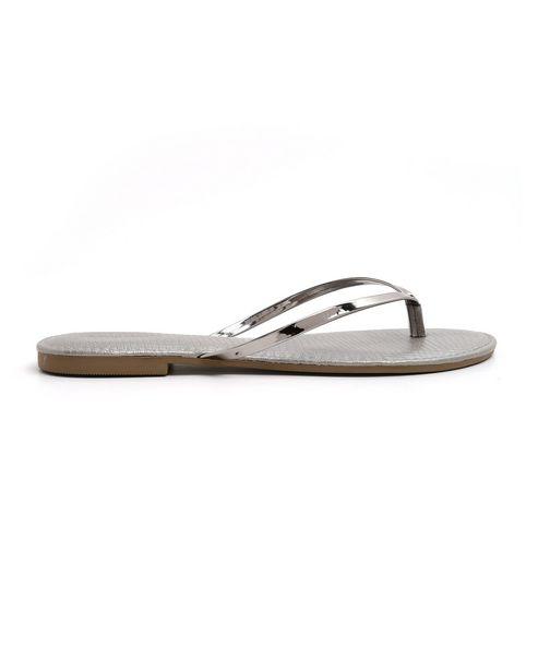 Oferta de Sandália Rasteira Metalizada RCHLO Shoes por R$17,9