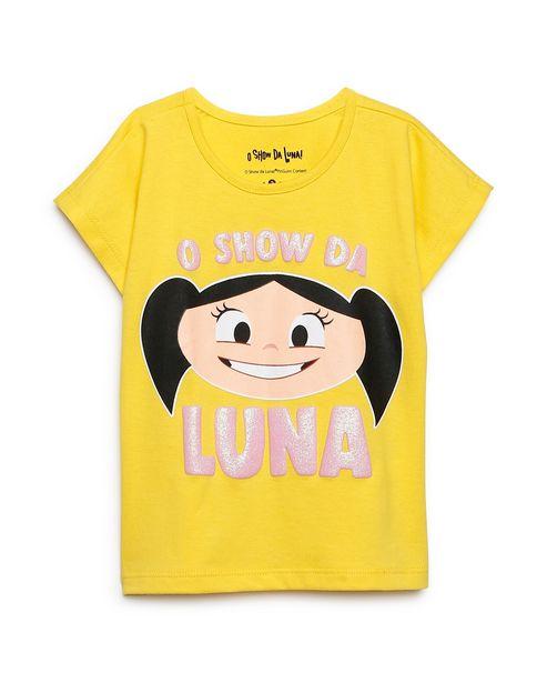 Oferta de Camiseta Infantil O Show da Luna Amarelo Tam 1 a 4 por R$12,9