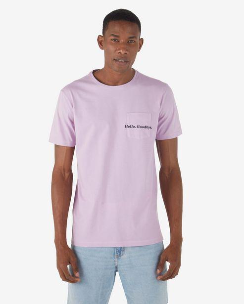 Oferta de Camiseta Hello. Goodbye - Lilás por R$15,9