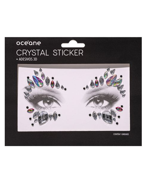 Oferta de Adesivo Facial Océane Crystal Prateado por R$4,9