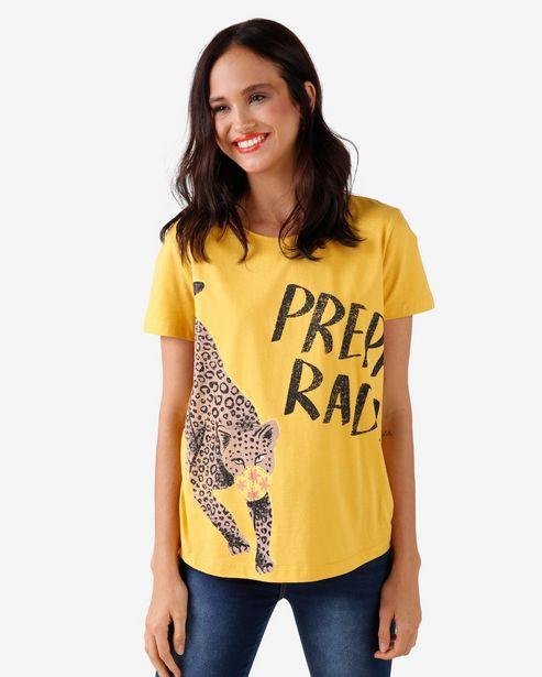 Oferta de Camiseta Preparada - Amarelo Gema por R$15,9