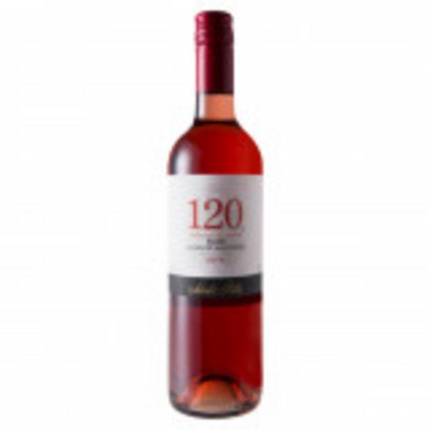 Oferta de Vinho Chileno Rosé Seco Santa Rita 120 Cabernet Sauvignon Valle Central Garrafa 750ml por R$49,99