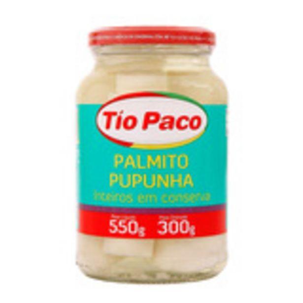Oferta de Palmito Pupunha Inteiro Tio Paco 300g por R$16,99