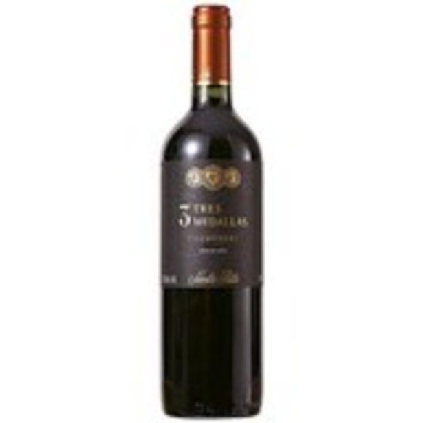 Oferta de Vinho Tinto Chileno 3 Medallas Carmen 750ml por R$36,99