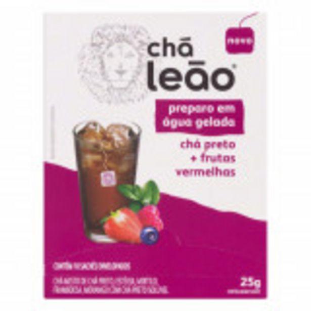 Oferta de Chá Preto Frutas Vermelhas Chá Leão Caixa 25g 10 Unidades por R$10,29