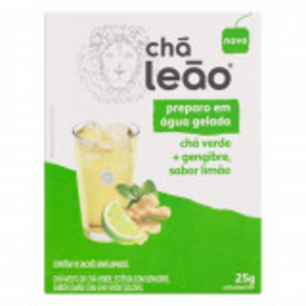Oferta de Chá Verde Gengibre e Limão Chá Leão Caixa 25g 10 Unidades por R$10,29