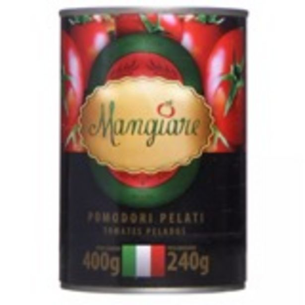 Oferta de Tomate Pelado Mangiare Lata - 400g por R$6,99