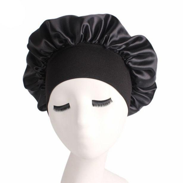 Oferta de Newly-chapéu de dormir feminino em cetim por R$5,22