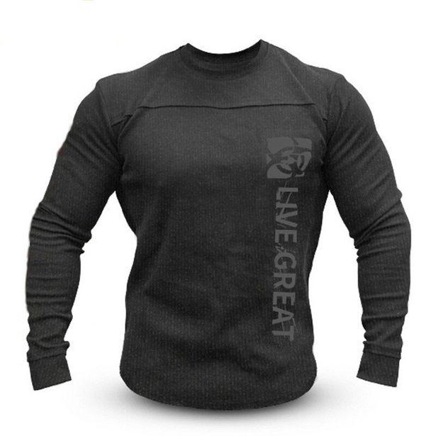 Oferta de Camisa masculina de malha com manga longa por R$120,14