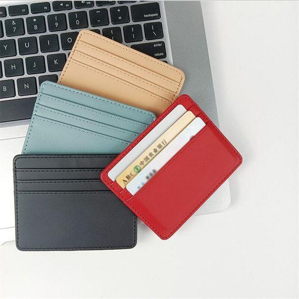 Oferta de Carteira de couro pu com porta-cartões por R$6,48