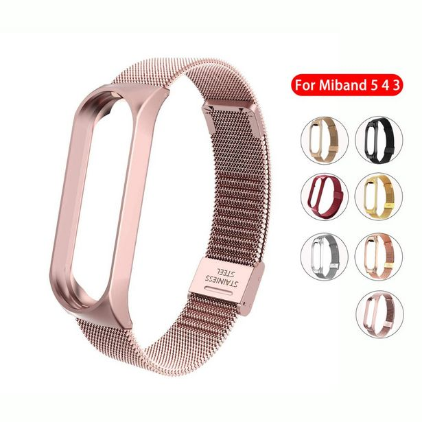 Oferta de Pulseira de aço inoxidável para smartwatch por R$15,81