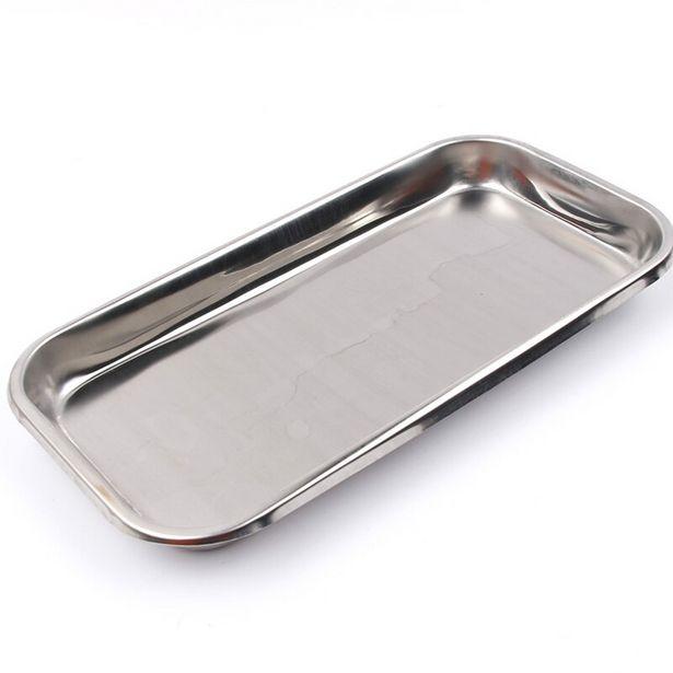 Oferta de Bandeja de armazenamento de cosméticos em aço inoxidável por R$18,58