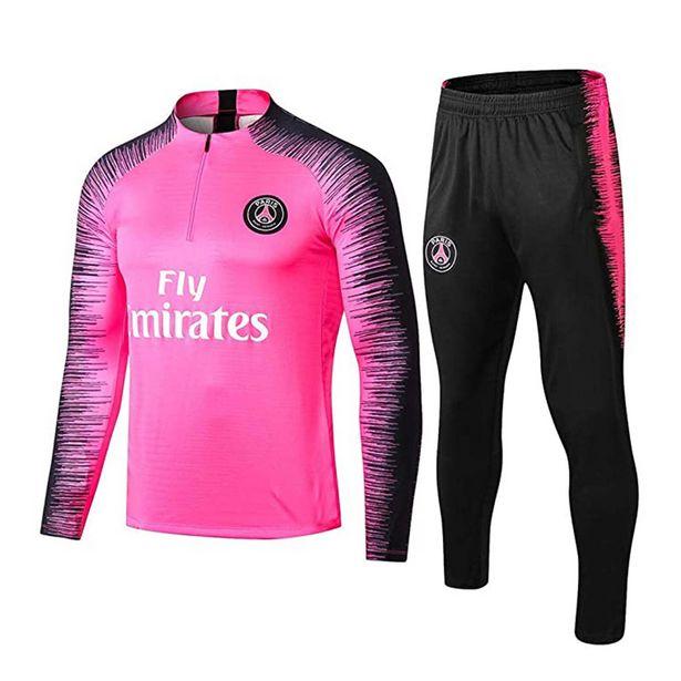 Oferta de 2021 adultos conjuntos de camisas de futebol survetement kits de futebol masculino criança correndo jaquetas treinamento esportivo uniformes treino terno por R$53,62