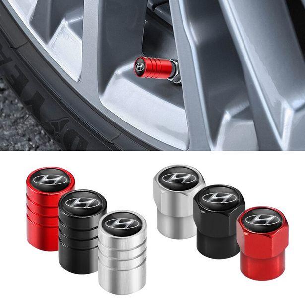 Oferta de Tampa da válvula do pneu da roda de carro 4 un. por R$2,81