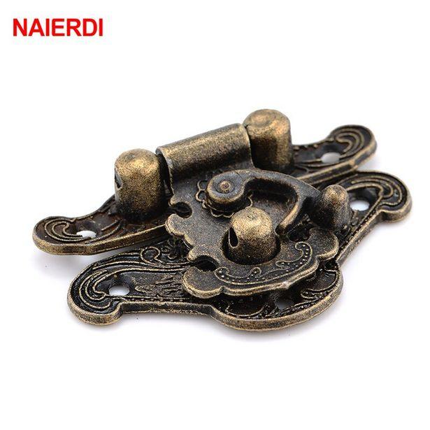 Oferta de Naierdi 4 peças fechadura de bronze antigo por R$7,99