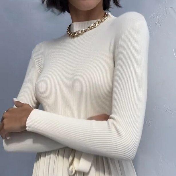 Oferta de Inverno macio feminino básico quente puxar outono gola alta tricô bottomming camisolas quentes sólido minimalista barato pulôveres superiores por R$30,61