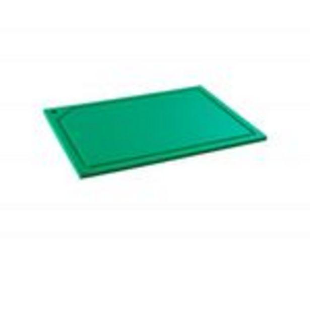 Oferta de Tabua de Corte em polietileno - Verde - Canaleta - 50 x 30 por R$112,58