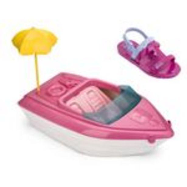 Oferta de Sandália Infantil Grendene Barbie 22002 Rosa/Azul por R$39,9