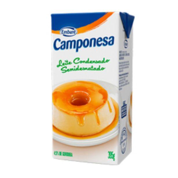 Oferta de Leite Condensado Camponesa Semidesnatado Tp 395gr por R$4,19