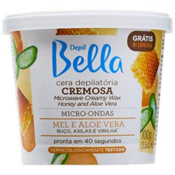 Oferta de Cera P/ Depilar Depil Bella 100g Microondas Mel/aloe Vera por R$15,89
