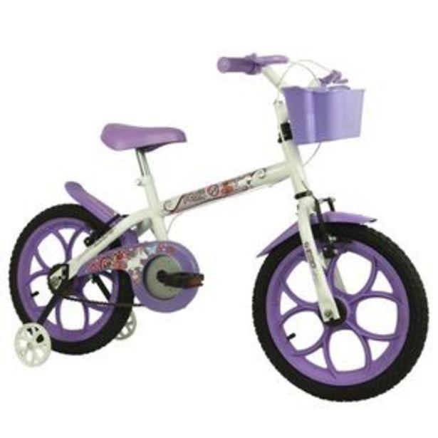 Oferta de Bicicleta infantil Track & Bikes Pinky Aro 16 Branco/Lilás por R$629