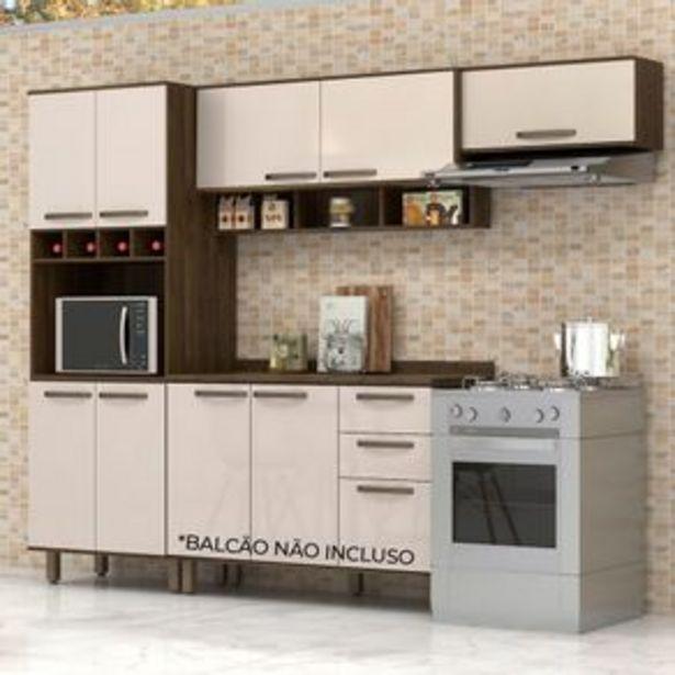 Oferta de Kit Cozinha Luciane Sara 3 peças com 1 Paneleiro e 2 armários aéreos por R$899