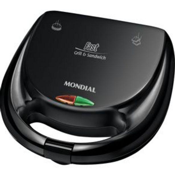 Oferta de Sanduicheira & Grill Mondial S-12 Fast Grill por R$119