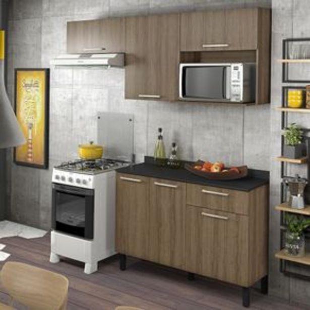 Oferta de Cozinha Compacta Itatiaia Star 2 peças, Armário Aéreo 3 portas e Balcão por R$879