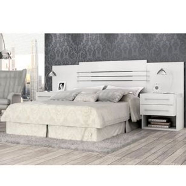 Oferta de Cabeceira Panan com Criados Criative Plus com 4 opções de montagem - Branco por R$899