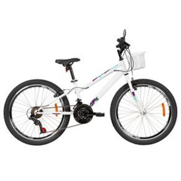 Oferta de Bicicleta Caloi Ceci T13R24V21 Aro 24 com 21 Marchas, Freio V-brake e Cesto Frontal por R$1099