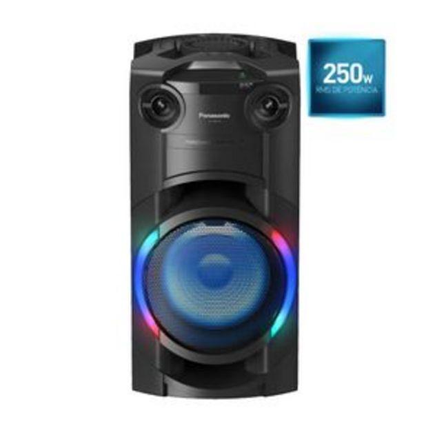 Oferta de Torre de Som Panasonic TMAX20 com LED Multicolorido, Bluetooth e 250W RMS de Potência por R$1499