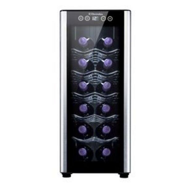 Oferta de Adega Electrolux ACS12 para 12 garrafas com acabamento em alumínio escovado, preto por R$1099
