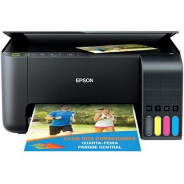 Oferta de Impressora Multifuncional Tanque de Tinta Epson Ecotank L3150 - Wi-Fi, Colorida por R$1399