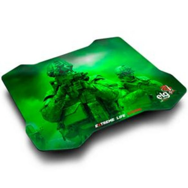 Oferta de Mouse Pad Gamer ELG Sense Control 30x23cm por R$44