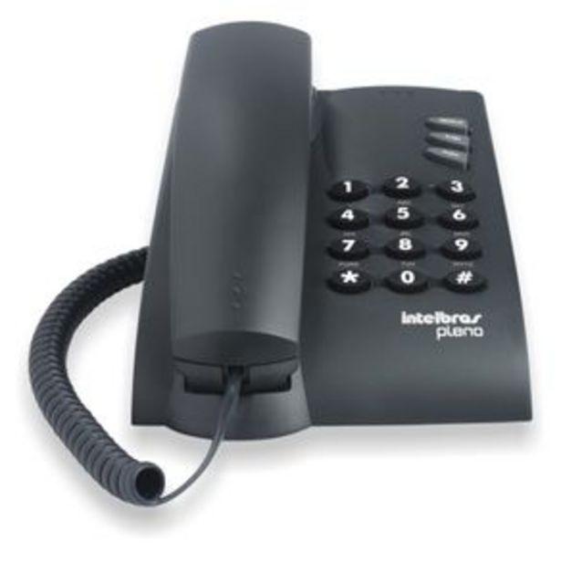 Oferta de Telefone fixo Pleno com fio Intelbrás - Grafite por R$59,99