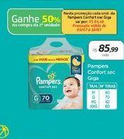 Oferta de Pampers Confort sec Giga por R$85,99