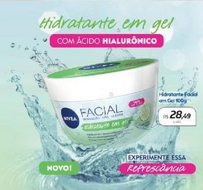 Oferta de Hidratante Facial Em Gel 100g Nivea por R$28,49